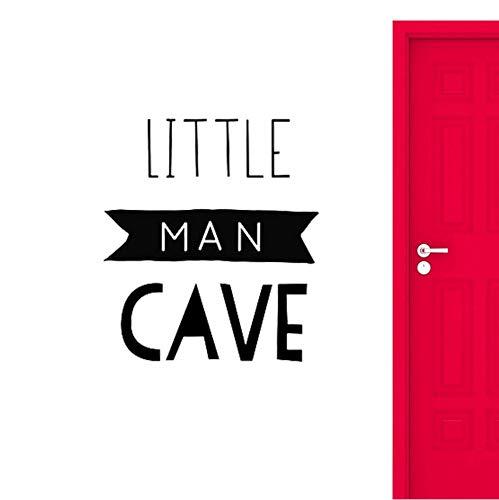 Kleiner Mann Höhle Zeichen Wandtattoos Dekoration Für Baby Jungen Kinderzimmer Dekor Kinder Spielzimmer Kunstwand 56x64 cm (Lustige Mann Zeichen Höhle)