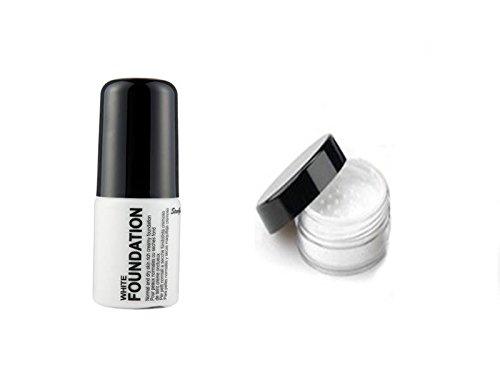 Stargazer Halloween Make-Up Set Liquid Foundation & White Loose White Powder