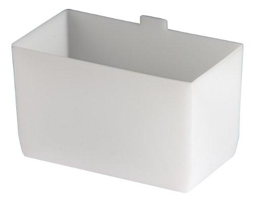 akro-mils 301022–3/4-Zoll von 12,7cm von 3Zoll groß bin Cup für Regal Mülleimer, weiß, 24-case