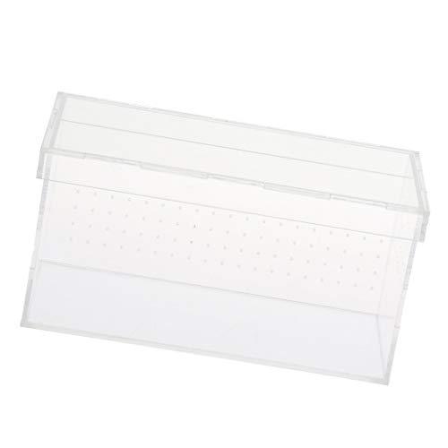 SM SunniMix Transparent Transportbox Fütterungsbox für Reptilien, Spinnen, Frösche, Eidechsen, usw. - Typ 5
