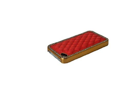 Luxburg® S-Line Design Schutzhülle für Apple iPhone 4S / 4 in Farbe Tiefschwarz / Schwarz, Hülle Case aus TPU Silikon Karminrot / Rot