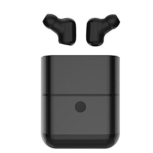 MOGUU Wireless Bluetooth 4.2 Ohrhörer (Eingebautes Mikrofon) Ist Geeignet Für Sport-Business-Fitness-Reisen, Kopfhörer Kompatibel Mit Jedem Smart-Gerät., Schwarz Headphones Earphones