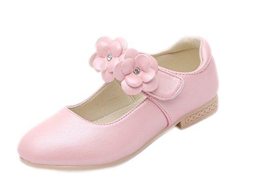 La Vogue Zapatos Princesa de Niña Flor para Boda Cumpleaños Rosa Tal