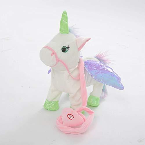 Musical singing unicorn toy soft plush toy singing and walking