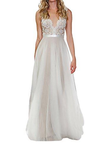 BOLAWOO Donna Abiti Da Sposa Bridesmaids Abito Da Cerimonia Estivi Lungo  Elegant 4fea98f5c63
