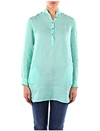 312025717074 Fred Perry Camisas Mujer Lino Verde