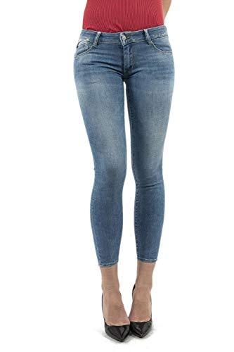 Le Temps Des Cerises Damen Jeans JF Pulp Blue Denim 28 Pocket Bottoms Jeans