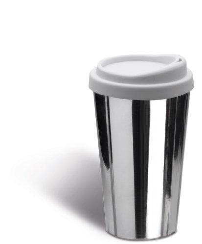 Coffee to go Kaffeebecher Edelstahl Silikon 360 ml 12,5cm doppelwandig