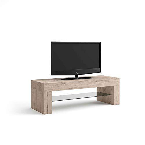 Mobili Fiver, Evolution, Meuble TV, Mélaminé, chêne Naturel, 112 x 40 x 36 cm