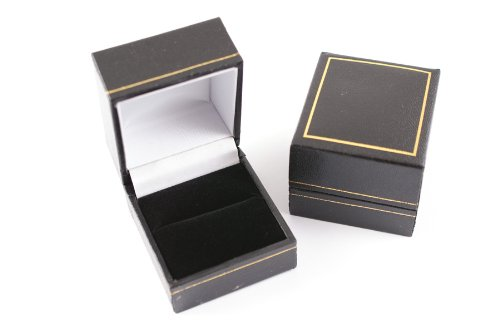 1-x-stunning-black-leatherette-ring-box-with-velvet-insert-gold-trim
