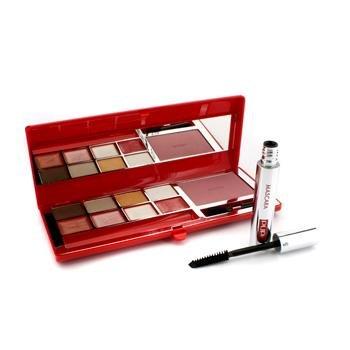 Pupa - Haute Couture Palette A Porter - (Red Mix) # 01 Bon Ton Shades 16.9G/0.6Oz - Maquillage