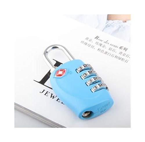 Chenjinxiang01 Sperre, Zoll Passwortsperre, Gym Locker Sperre Reisewagen Gepäck Koffer Mini Passwortsperre, hochwertiges Geschenk, mehr Farben (Color : Blue, Size : 2.8 * 6.7 * 1.3 * 4cm)