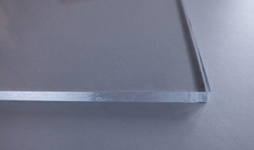 Acrylglas / Plexiglas | PMMA | transparent | glasklar | UV beständig | beidseitig foliert | im Zuschnitt | 4 mm stark (50x50 cm) - 3