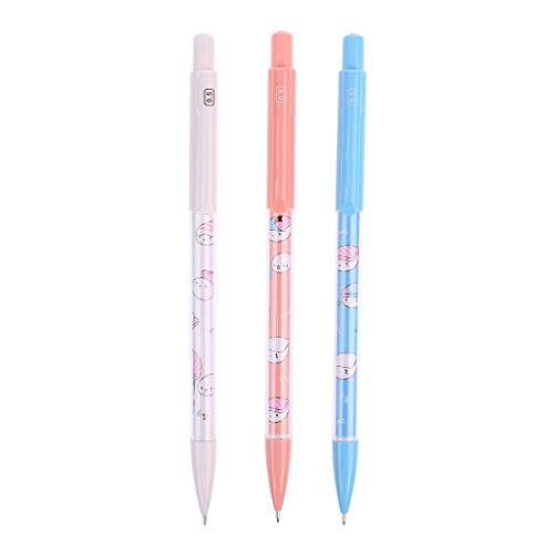 A0127/matita meccanica penna automatico Premere il matita 1pcs forniture scolastiche cancelleria 0,5/mm Gatto di fumetto kawaii riciclabile colore casuale