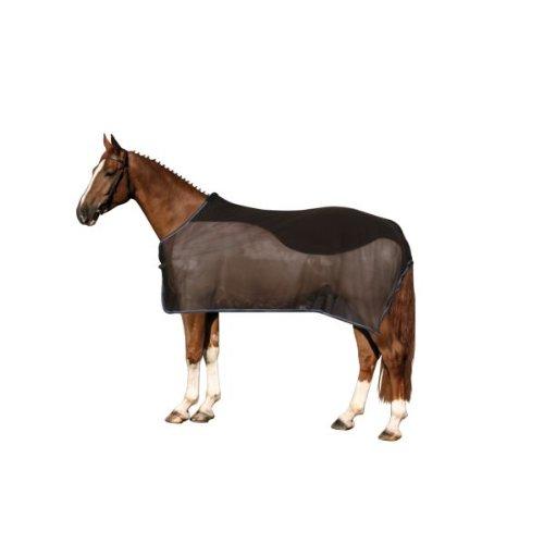 60 Pferde Größe Decke (Fliegendecke mit Fleeceeinsatz, schwarz 165cm)