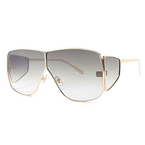 GY-HHHH Klassisches Retro-Outdoor-EssentialSonnenbrille - Sonnenbrille mit großem Gestell und Sonnenbrille mit vier Gläsern für Herren und Damen in Silber