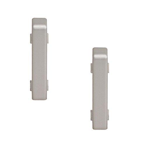 2 X Verbinder Silber Für Kronotex Ktex1 Sockelleiste Randleiste Fußleiste