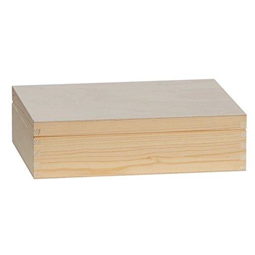 Tee Box, Teekiste, Kleinteile-Kiste aus Holz mit Fachtrennung in verschiedenen Größen, Artikelgröße:Kiste 12 Fächer. 29 x 22.5 x 8 cm