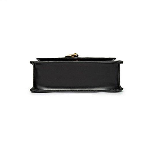 Chain-Typ Messenger Bag-Typ Magnetischen Wölbung Damen Handtasche Umhängetasche Quadratisch Brown