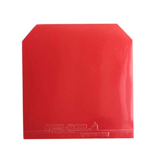 YSHTAN Gummi-Schwammball für Sport Noppen in Gummi Tischtennis-Ping-Pong Paddle Schläger umgekehrt Noppen in Pips-in Gummi Schwamm - Rot rot