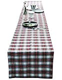 AAYU Brand Scottish Tartan Checkered Table Runner | 14 Inch x 108 Inch | Yarn Dyed Soft Boutique | Red Plaid Table Runner | 250 GSM Fabrics | Multi-Color