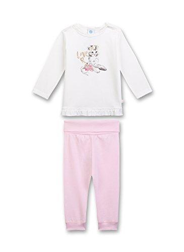 Sanetta Baby-Mädchen Zweiteiliger Schlafanzug Pyjama Long Beige (Broken White 1427.0) 98