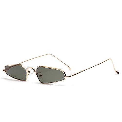 WJFDSGYG Punk Cool Sonnenbrille Herren Gothic Style Damen Sonnenbrille Designer Schmale Brillen Unregelmäßiger Rahmen