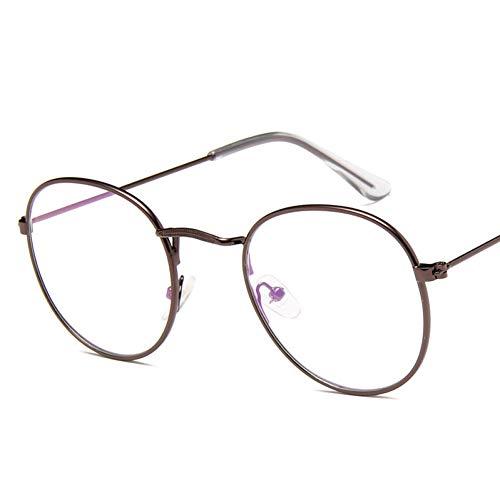 WTACK Metall Flache Sonnenbrille Frauen Vintage Oval Shopping Brillen Street Beat Sonnenbrille Brille