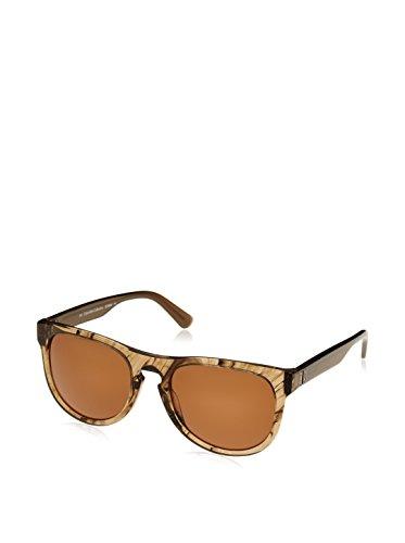 Calvin Klein Unisex Sonnenbrille CK7965SP, Braun (Striped Taupe), One size