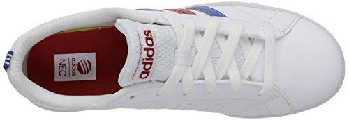 adidas Advantage Vs, Sneakers basses mixte bébé Blanc / Bleu / Rouge