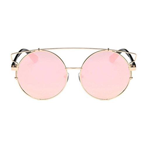 Damen Herren Sonnenbrille,Ronamick Mode Unisex Retro Brille Runde Aviator Sonnenbrillen (E)
