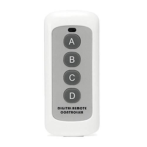 Detector Humo 4 Botón 433MHz Código EV1527 interruptor