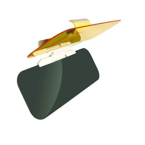 Butterme 2 in 1 Transparent Anti-Glanz Glas Innovative Entspiegelung Auto Sonnenblende für Day & Night Driving