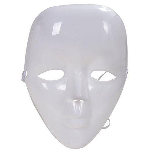 Maske Kostüm Leere Weiße - JVSISM Kunststoff Leere Weisse Vollmaske Gesichtsmaske Weiblich Maske Fuer Kostuem Party Ball