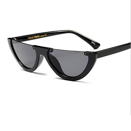 TJJQT Sonnenbrillen Coole Trendige halbe Frame randlose Cat Eye Sonnenbrille Frauen klare Sonnenbrille für Frauen