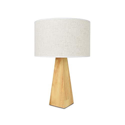 H.ZHOU Modern Nachttisch Lampen Wohnzimmer, Tischlampe Schlafzimmer 220 V Knopfschalter Weißes Licht Und Warmes Licht Nordic Kreative Schreibtisch Nachttischlampe (Color : Warm Light) -