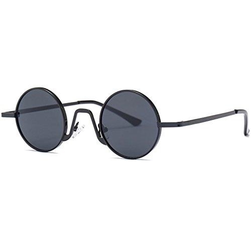 Fansport Runde Sonnenbrille Sonnenbrille mit Metallrahmen Fashion Circle Lens Sonnenbrille für die Reise
