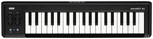 KORG microkey2–37 Air 37 Key Bluetooth Wireless und USB MIDI-Controller – Schwarz