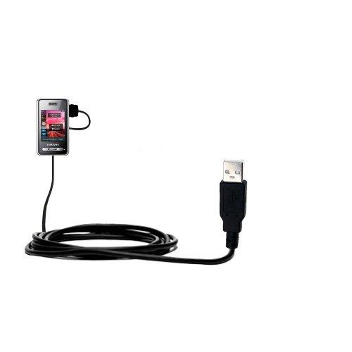 Das Hot-Sync Straight USB-Datenkabel für Samsung SGH-D980 DUOS mit Lade-Funktion mit TipExchange kompatiblen Kabel