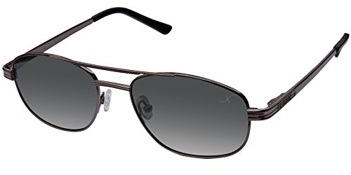 Xezo Herren UV-400Pilot Classic Titan Polarisierte Sonnenbrille, Schwarz Chrom, 0,7oz