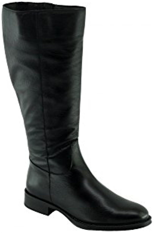 Angelina® KINANE Bottes Cavalières Femmes Chaussures Femmes Cavalières Boots Marque Cuir NoirB0792LRSCJParent 8777ec