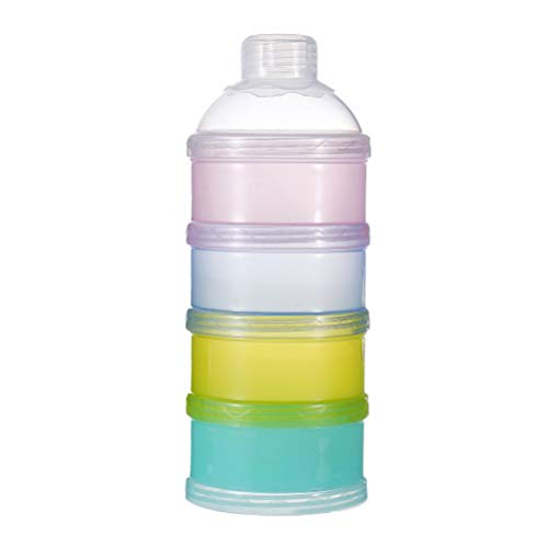 SUPVOX Milchpulver Portionierer Milchpulver Dispenser Formula Behälter 4 Schicht Stapelbar - Milk Bath Powder