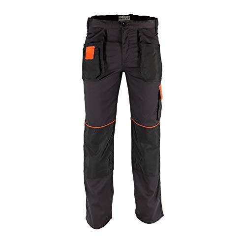 KREXUS 5.1 - Herren Arbeitshose - Schutzhose - Bundhose - Manner Arbeitskleidung - Arbeitsshorts (Graphit mit Orange, S, EX10502S)