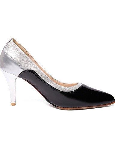 WSS 2016 Chaussures Femme-Bureau & Travail / Décontracté-Noir / Bordeaux / Amande-Talon Aiguille-Talons / Bout Pointu-Talons-Cuir Verni burgundy-us8 / eu39 / uk6 / cn39