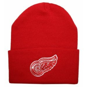 Detroit Red Wings NHL American Nadel Basic Beanie Knit Hat-Red