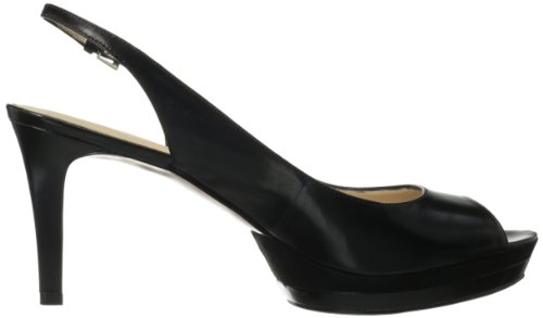 Nine West Able Synthetic-Plattform-Pumpe Black/Black Leather