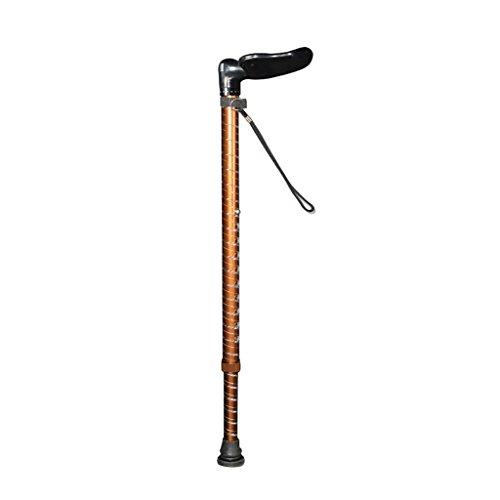 Yxsd bastone da passeggio in lega di alluminio con bracciolo a slitta in lega di alluminio per anziani