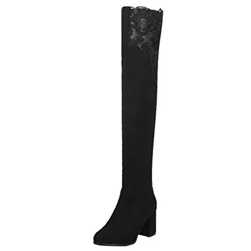 ZARLLE_ Hombre Zapatillas Botas Altas Mujer,ZARLLE Otoño e Invierno Botas sobre la Rodilla de Moda,Zapatos...
