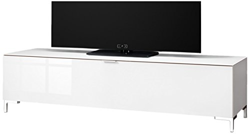 CS Schmalmöbel 45.012.505/039 TV-Board Cleo Typ 11, 163 x 50 x 44 cm, weiß / weißglas