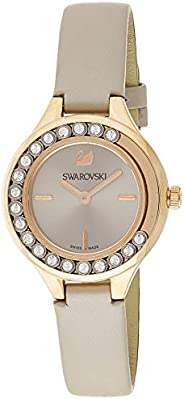 Swarovski Women's Quartz Watch, Analog Display and Leather Strap 5261481, Grey